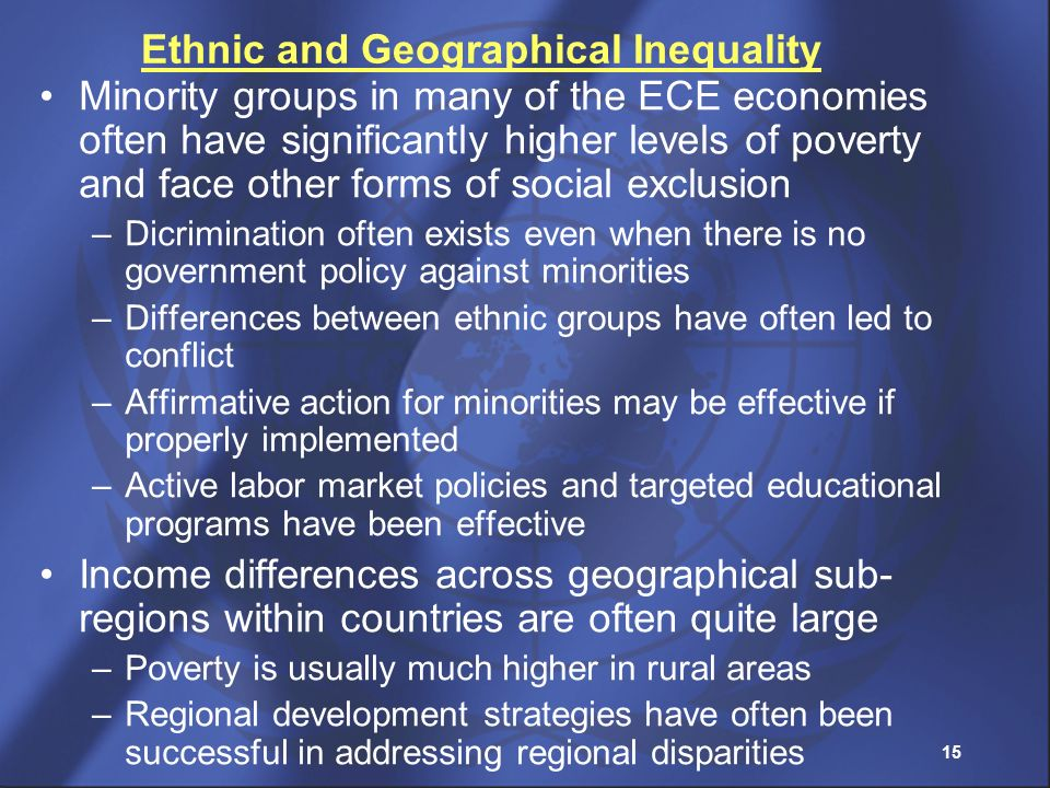 Ethnic and Geographical Inequality