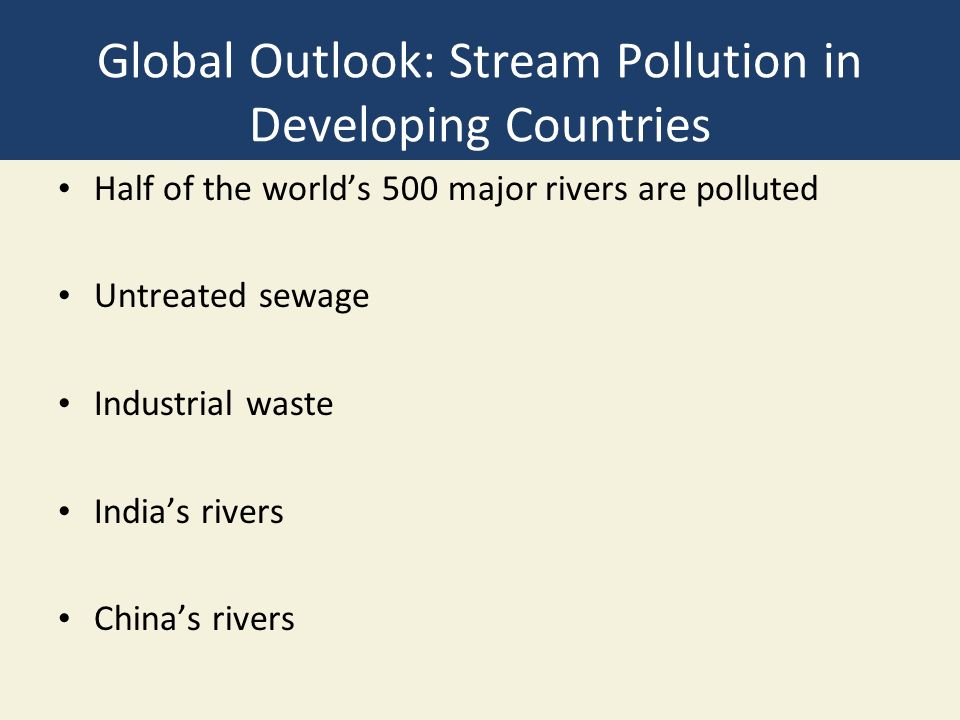 pollution in developed countries The developed, industrialized nations have greater responsibility in addressing environmental concerns it is in the interests of the industrialized nations to normalize environment so that they can enjoy the fruits of environmental normalization.