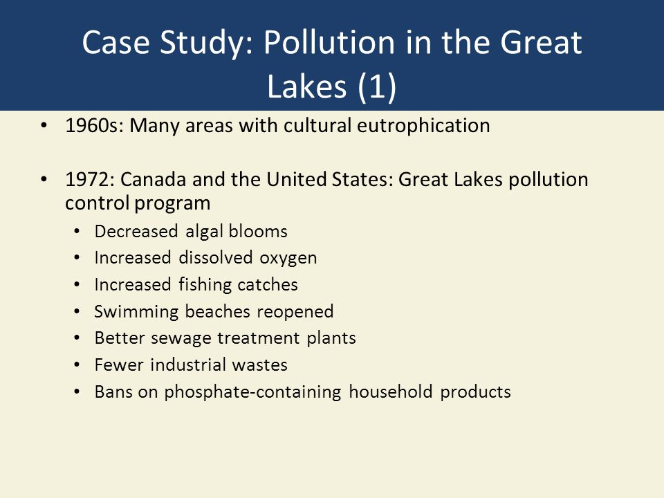 great lakes case study As a case study, chemical occurrence data from a 2012 study in the great lakes  basin along with the toxcast effects database were used to.