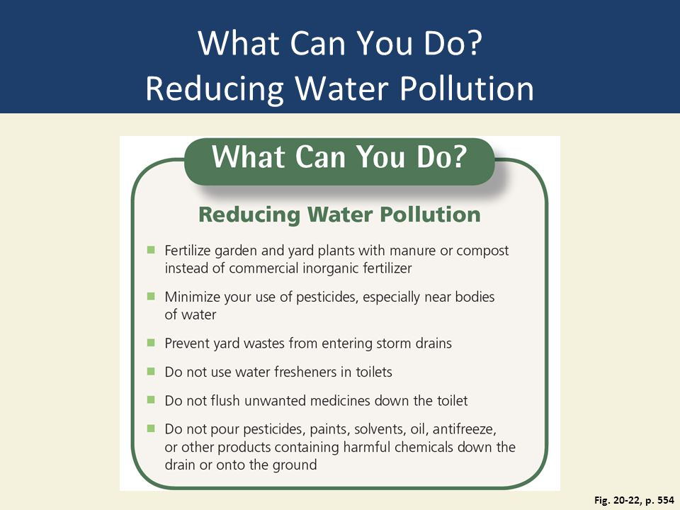 how to help reduce water pollution