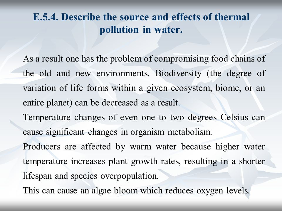 causes and effects of thermal pollution pdf
