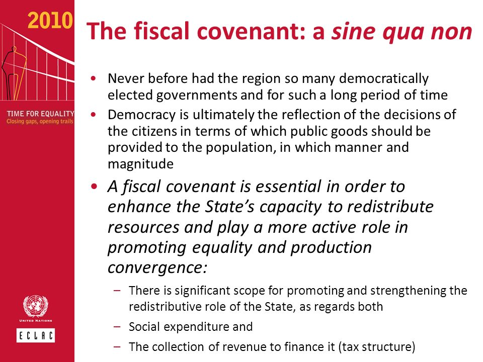 The fiscal covenant: a sine qua non