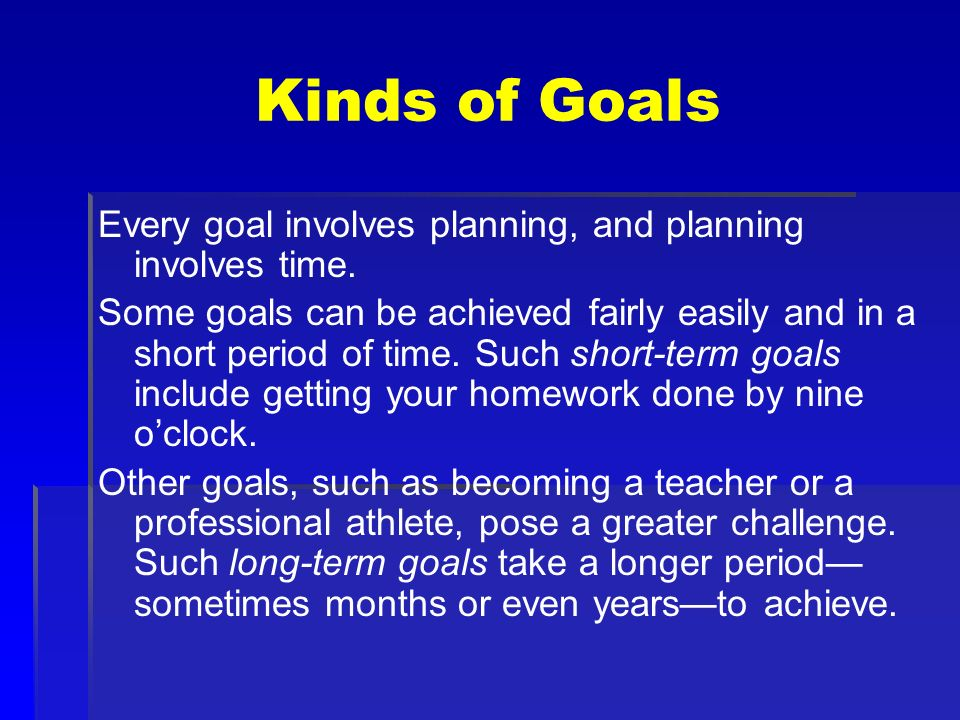 Making Decisions and Setting Goals - ppt download