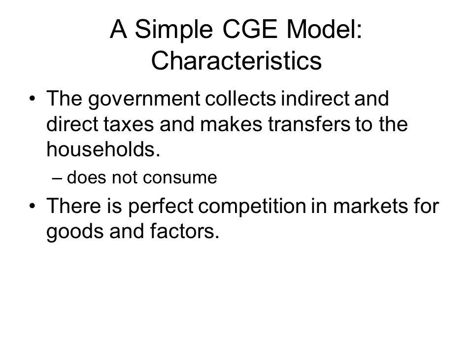 A Simple CGE Model: Characteristics