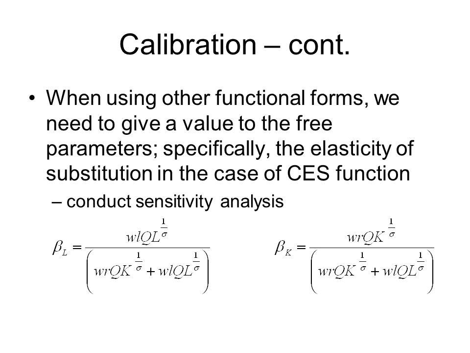 Calibration – cont.