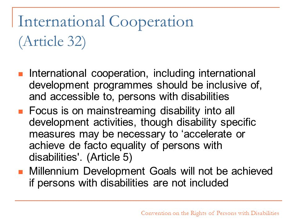 International Cooperation (Article 32)