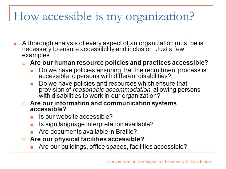How accessible is my organization