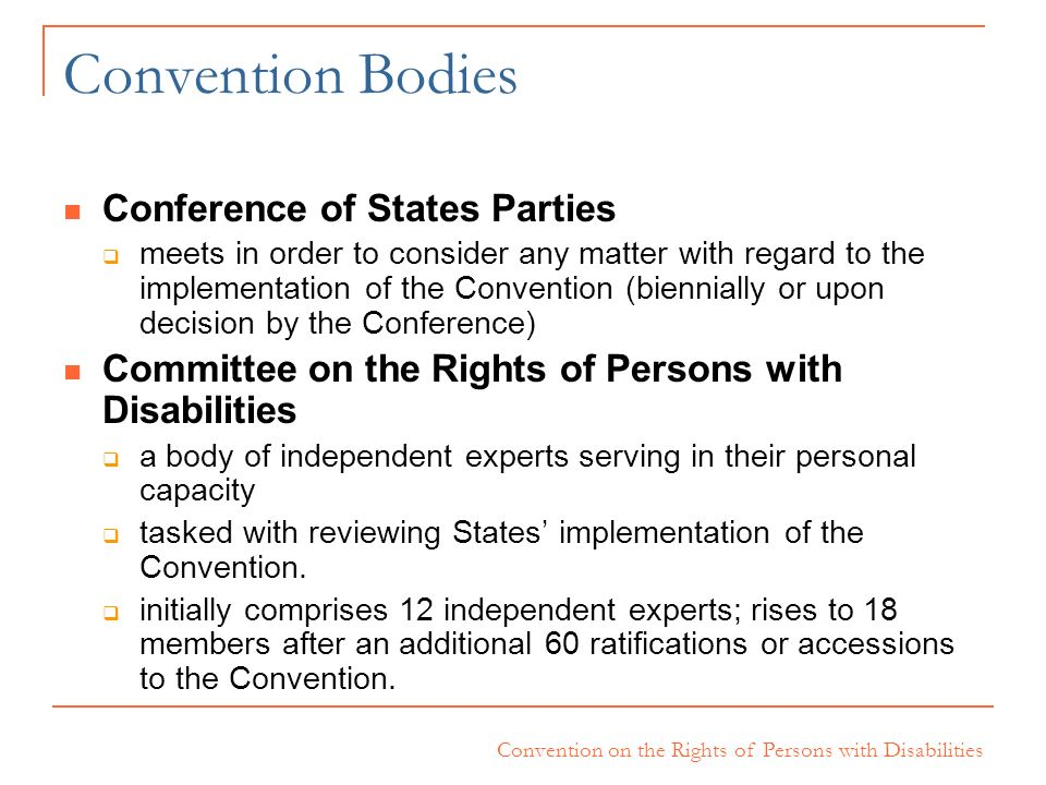 Convention Bodies Conference of States Parties