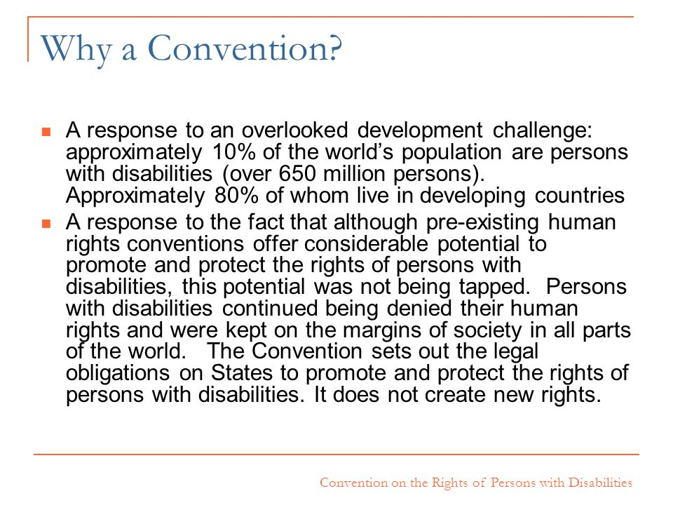 Why a Convention