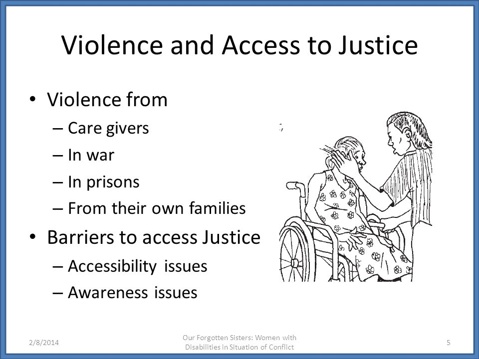 Violence and Access to Justice