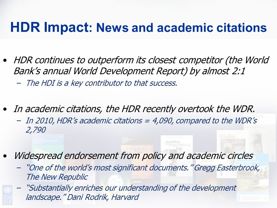 HDR Impact: News and academic citations