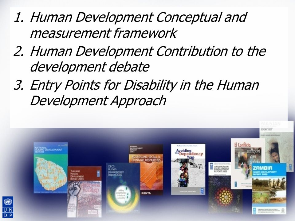 Human Development Conceptual and measurement framework