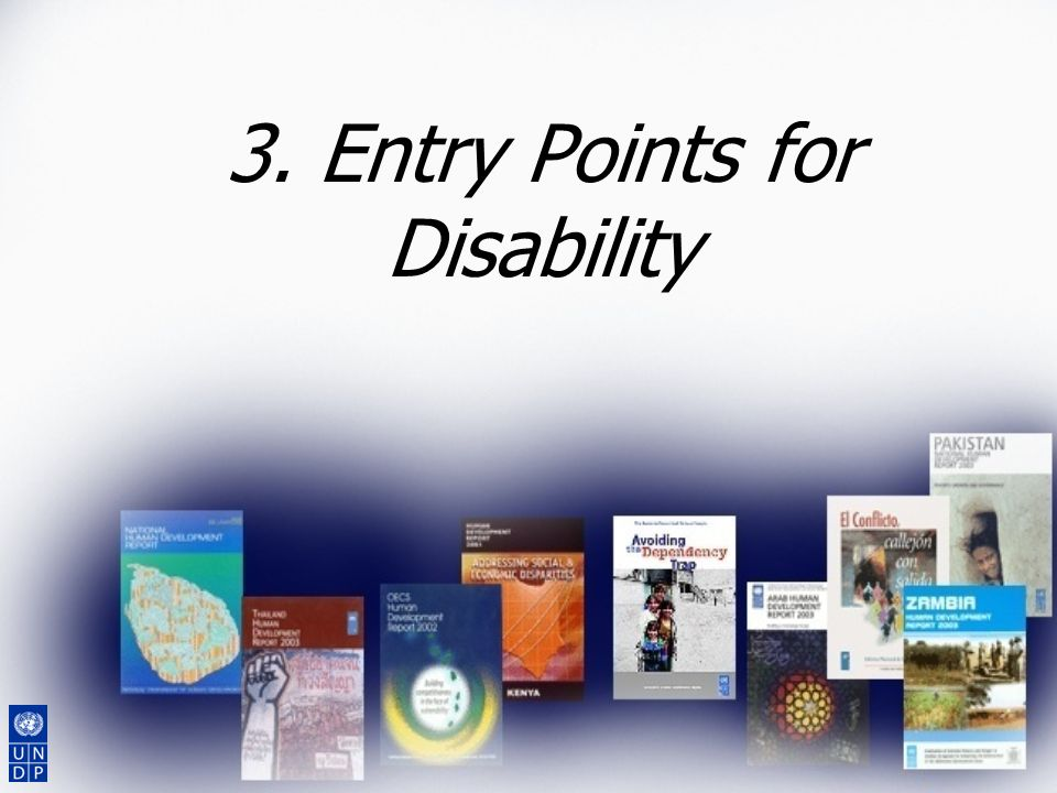 3. Entry Points for Disability
