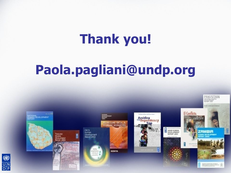 Thank you! Paola.pagliani@undp.org