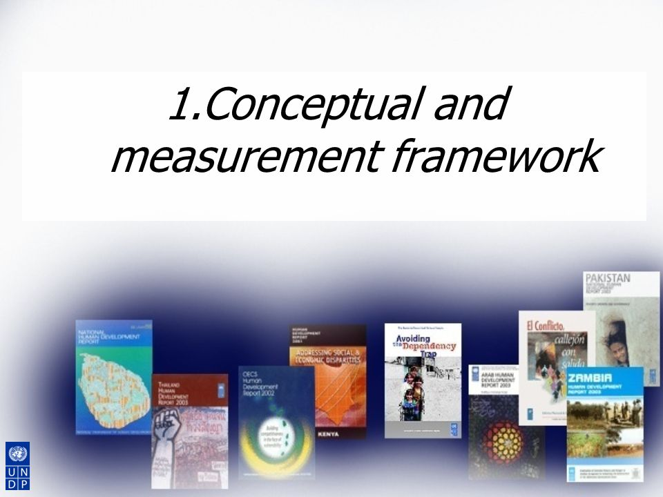 Conceptual and measurement framework