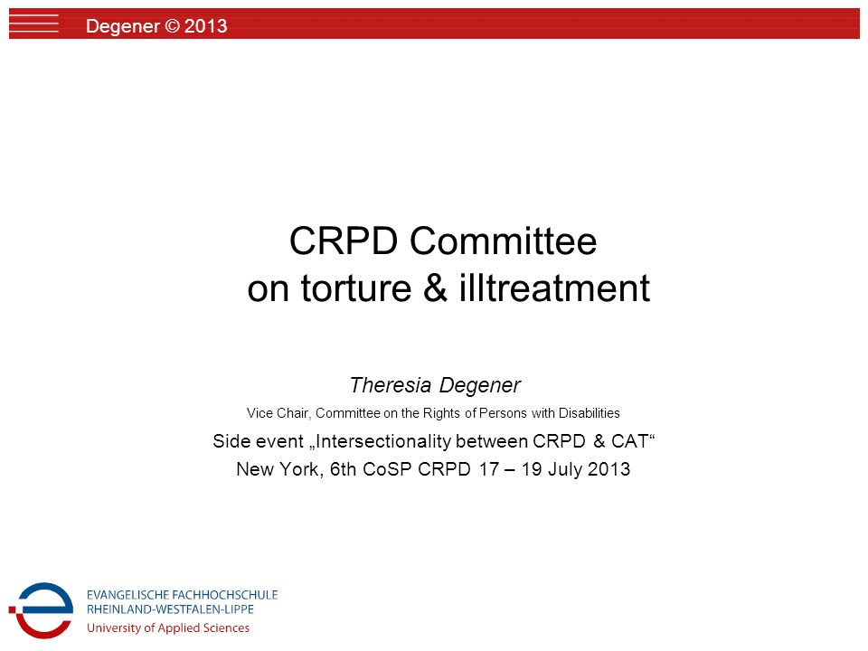 CRPD Committee on torture & illtreatment