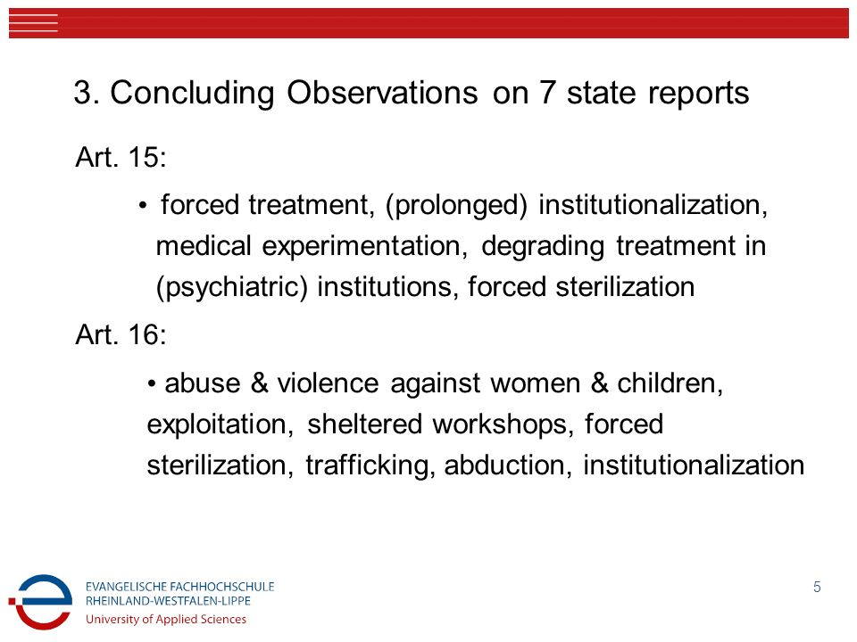 3. Concluding Observations on 7 state reports
