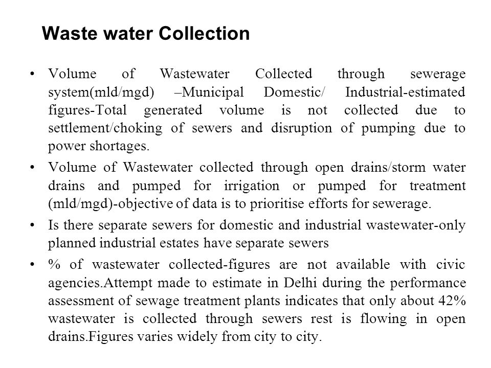 Waste water Collection