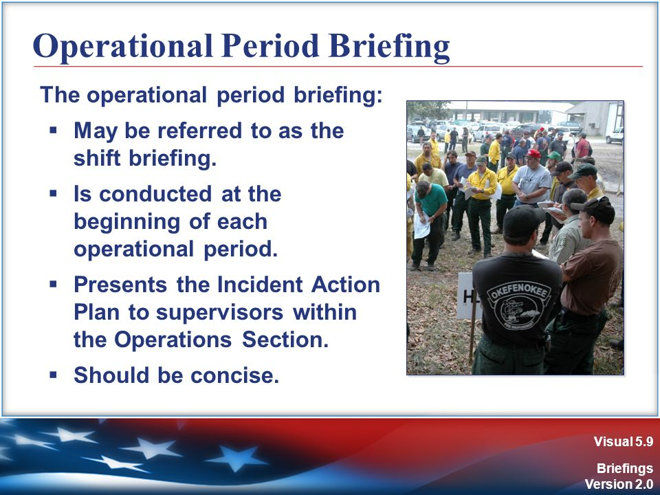 how to give an operational briefing