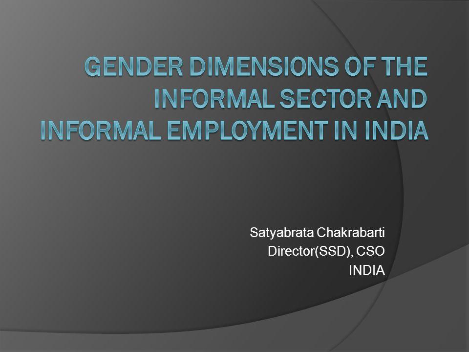 Satyabrata Chakrabarti Director(SSD), CSO INDIA