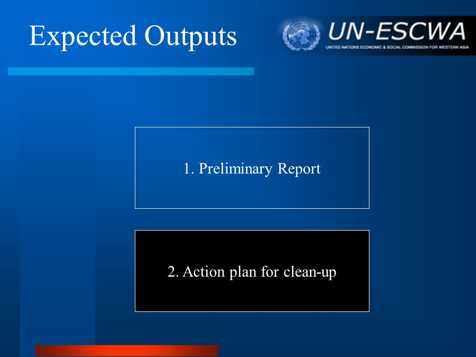 2. Action plan for clean-up