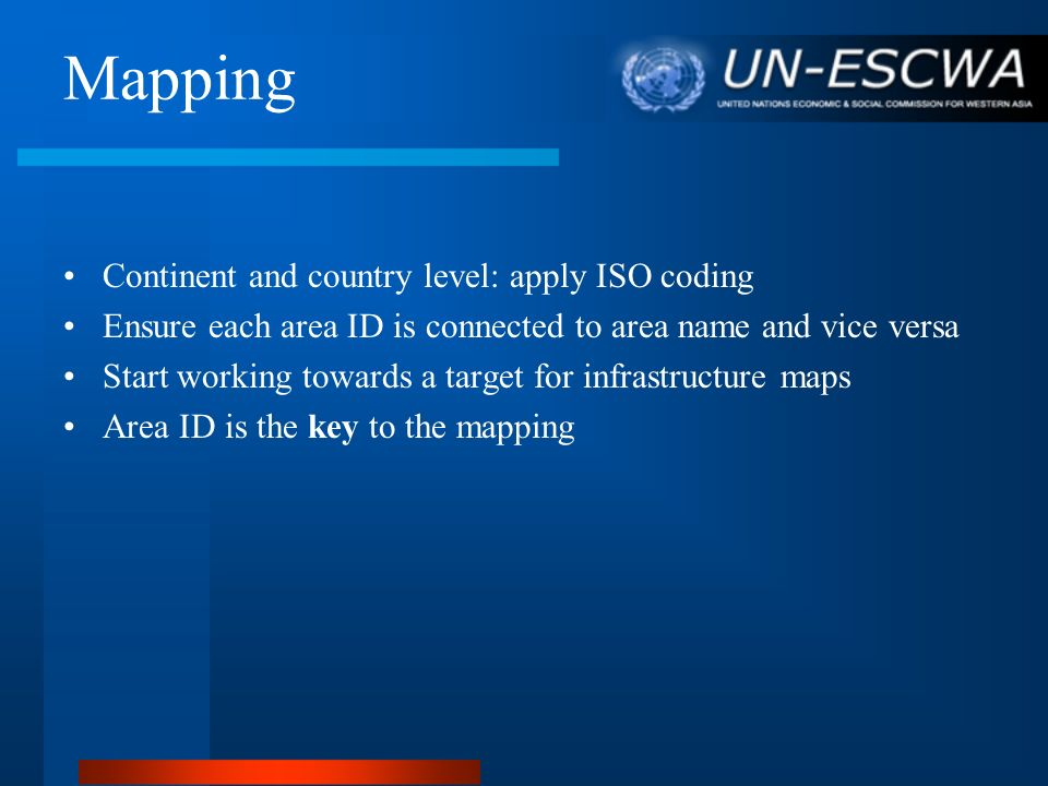 Mapping Continent and country level: apply ISO coding