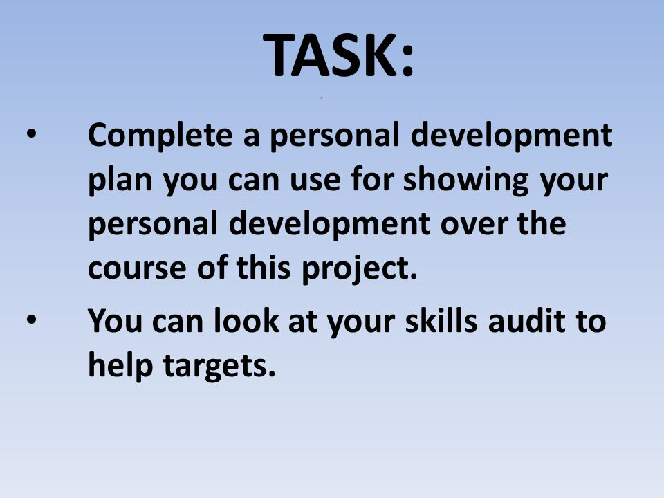 how to complete a personal development plan