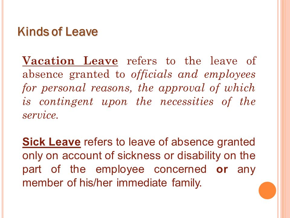 Kinds of Leave