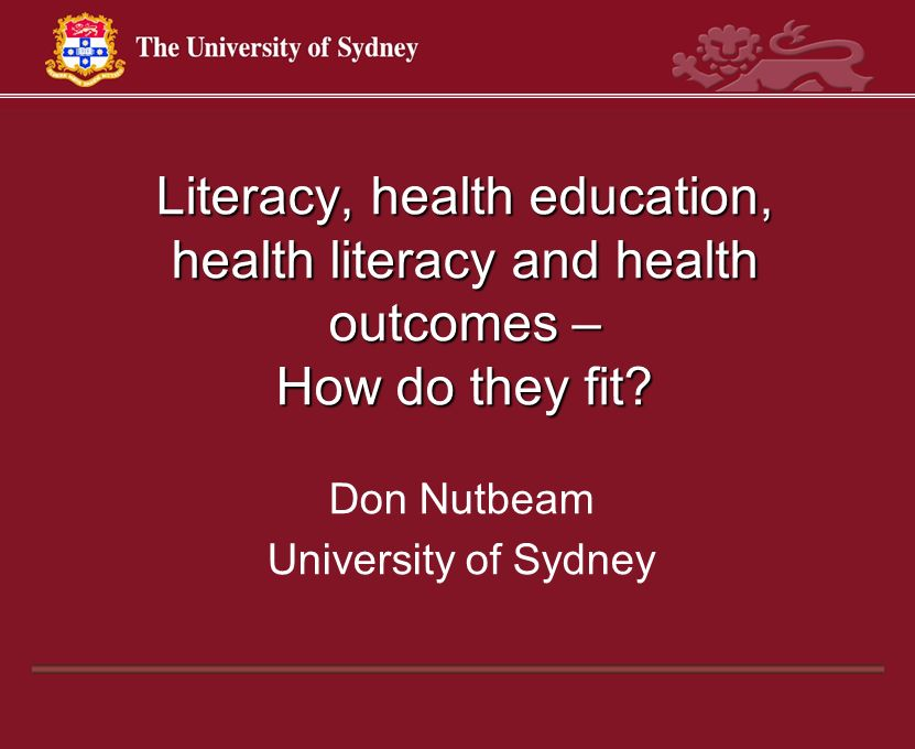 Don Nutbeam University of Sydney