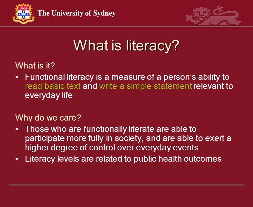 What is literacy What is it