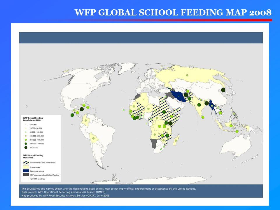 WFP GLOBAL SCHOOL FEEDING MAP 2008