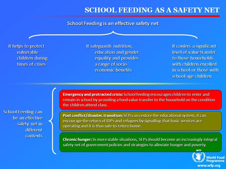School Feeding is an effective safety net