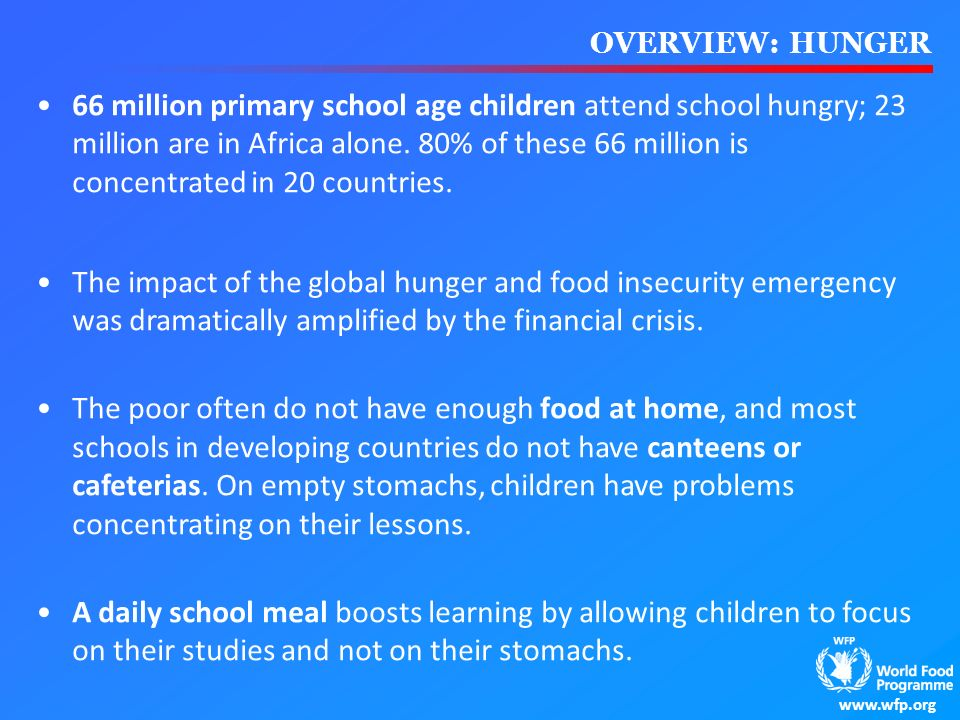 OVERVIEW: HUNGER