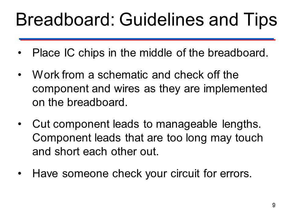 Breadboard: Guidelines and Tips