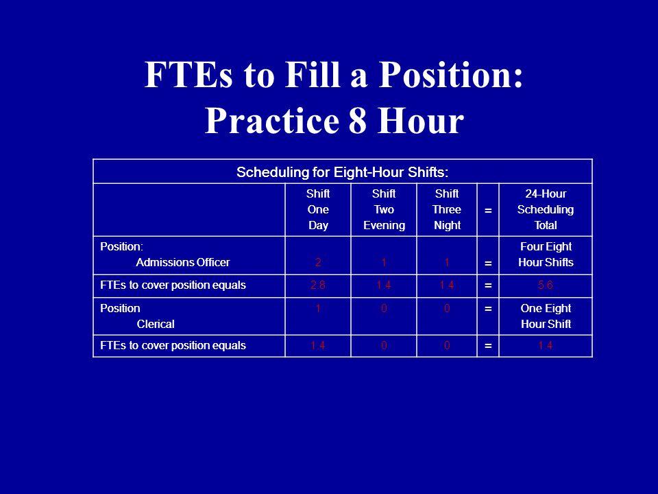 8 hour shift schedule