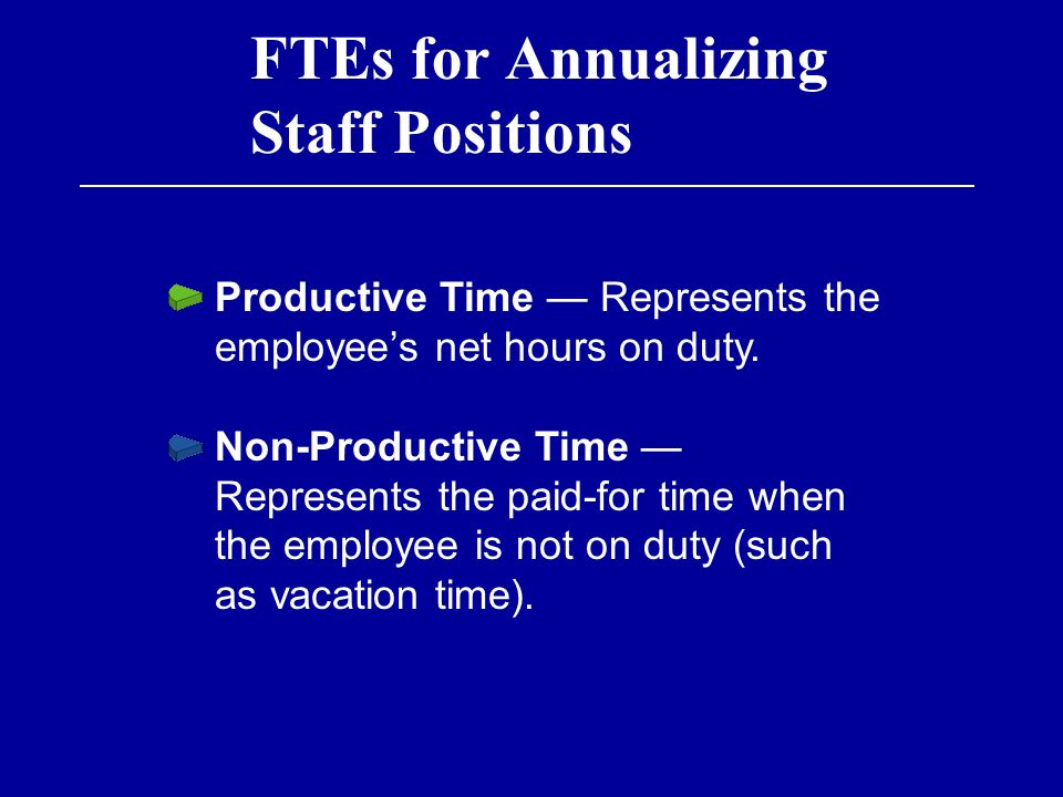 annualizing staff Annualizing staff takes away from the risk of worrying about projects which may or may not happen annualizing staff does not always work, in health care it is easy to annualize staff and there is not much fluctuation in patients or need for staff.