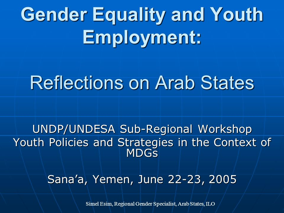 Gender Equality and Youth Employment: Reflections on Arab States