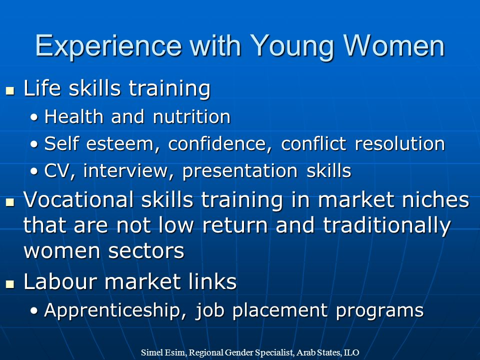 Experience with Young Women