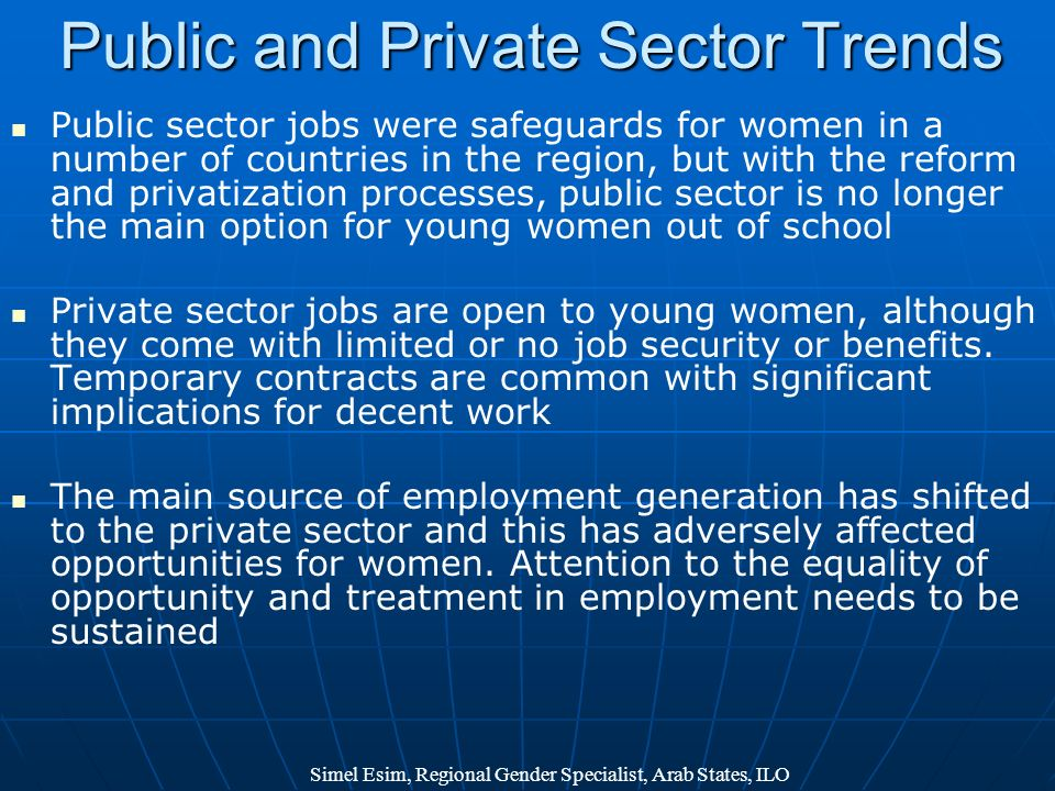 Public and Private Sector Trends