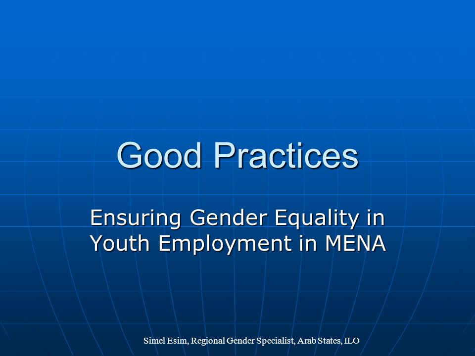 Ensuring Gender Equality in Youth Employment in MENA