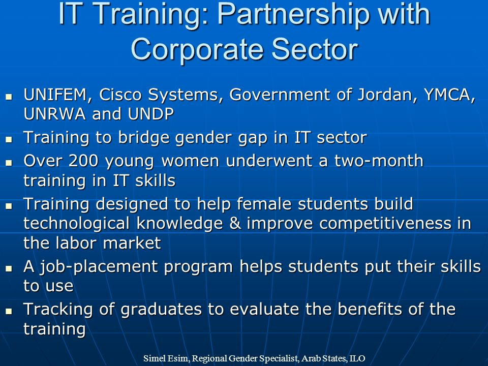 IT Training: Partnership with Corporate Sector