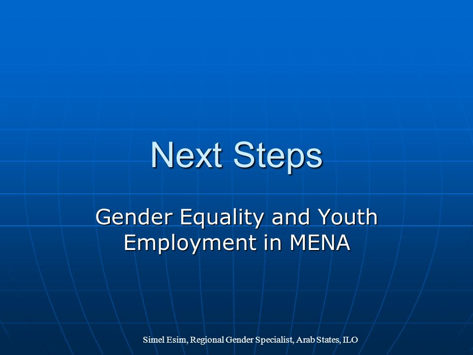 Gender Equality and Youth Employment in MENA