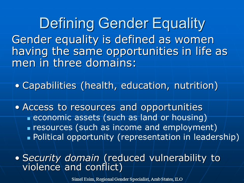 Defining Gender Equality