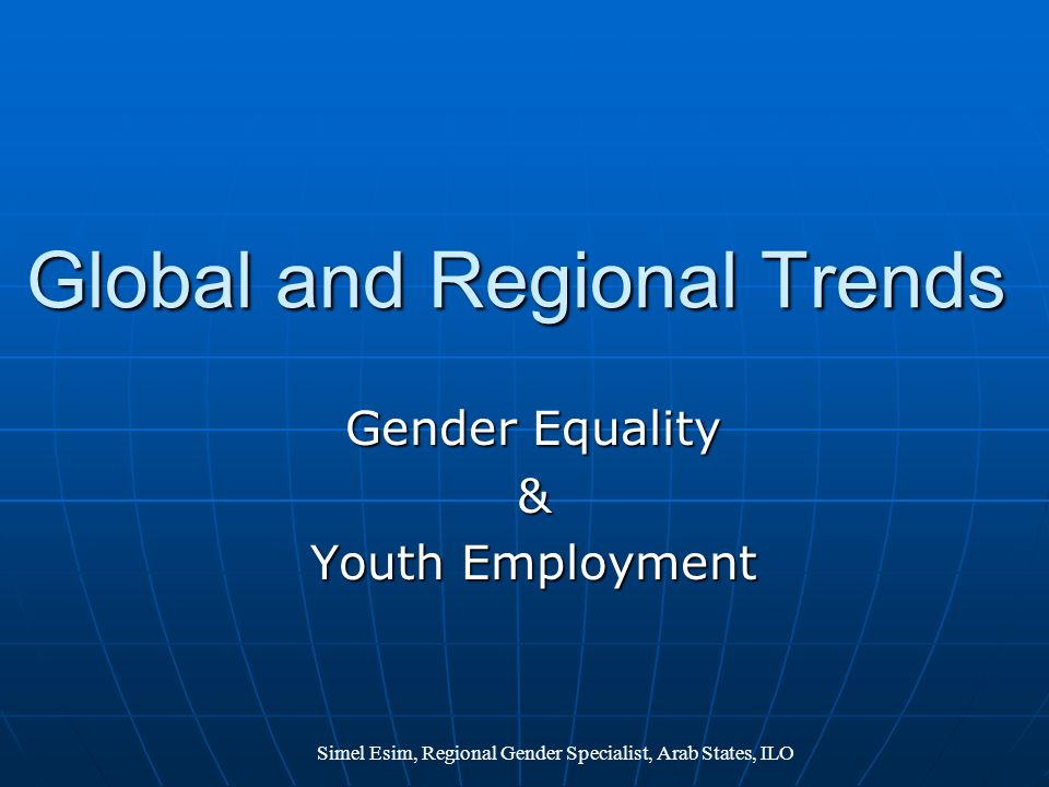 Global and Regional Trends