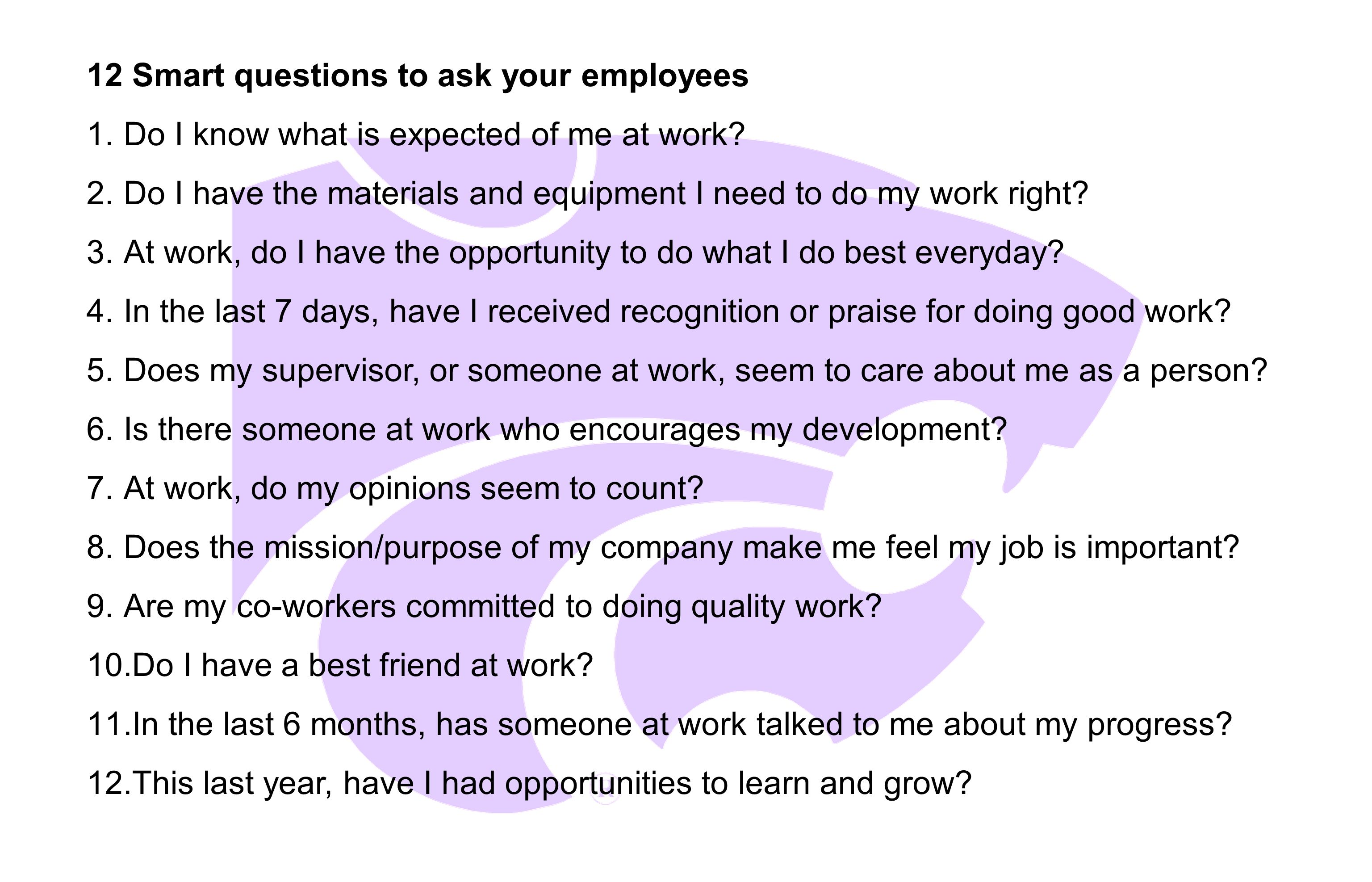smart questions to ask at the end of a job interview