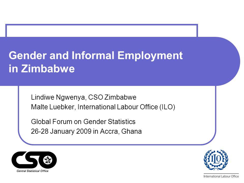 Gender and Informal Employment in Zimbabwe