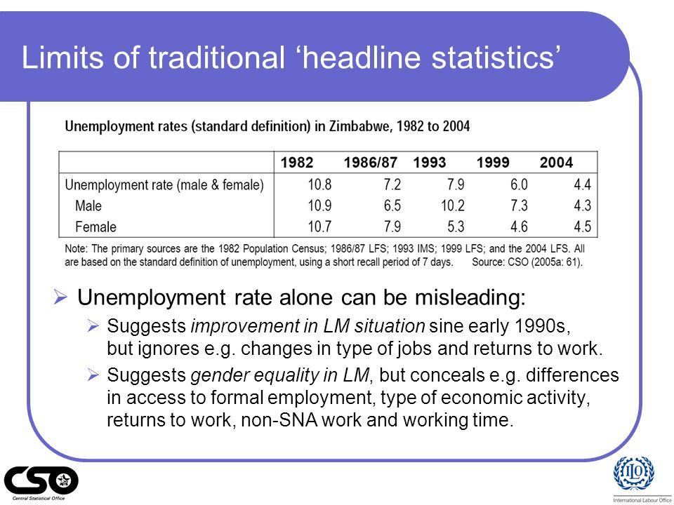 Limits of traditional 'headline statistics'