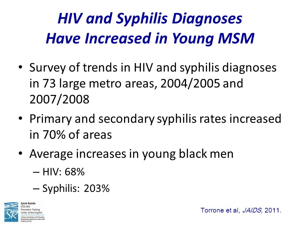 hiv and syphilis presentation If you aren't treated for syphilis, the disease moves from the secondary to the latent (hidden) stage, when you have no symptoms the latent.