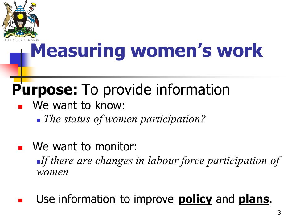 Measuring women's work