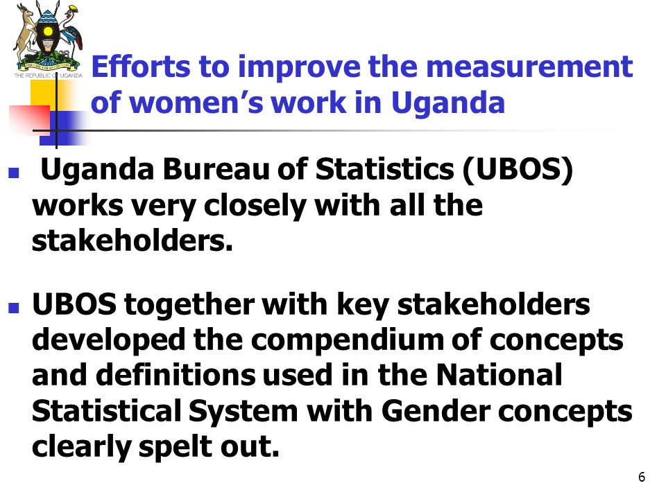 Efforts to improve the measurement of women's work in Uganda